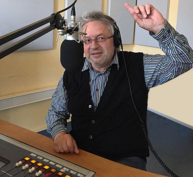 Klaus Dörre bei der KD-Radioshow im Offenen Kanal Jena.