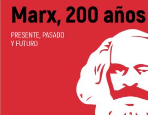 Hier ist das Buchcover von Marx, 200 anos zu sehen.